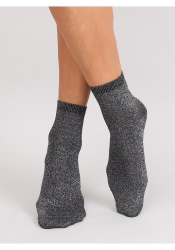 Dámské třpytivé ponožky v černé barvě