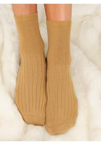 Žluté hladké ponožky pro dámy