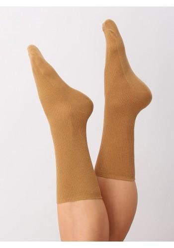 Dámské vysoké ponožky ve žluté barvě