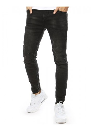 Módní pánské Joggery tmavě šedé barvy s přetíráním