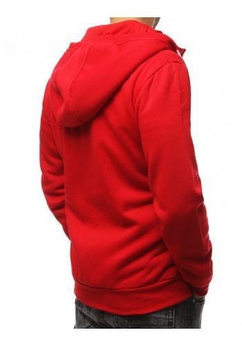 Červená klasická mikina s kapucí pro pány