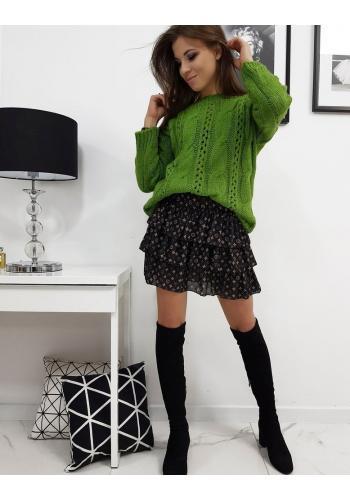 Dámský stylový svetr v zelené barvě