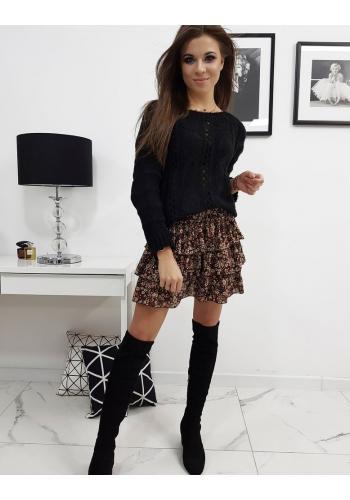 Černý stylový svetr pro dámy