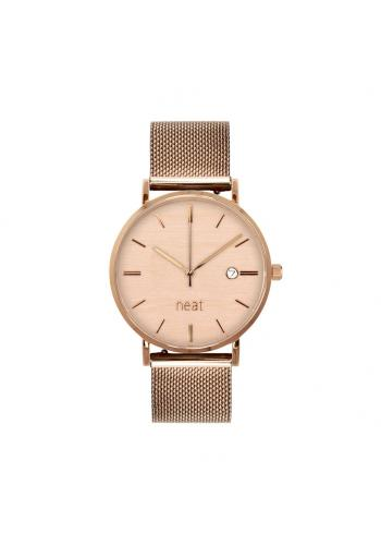 Dámské módní hodinky s kovovým řemínkem v zlato-béžové barvě