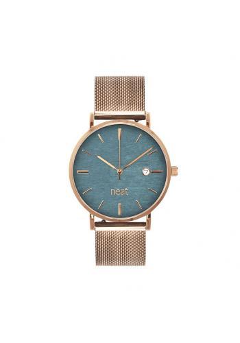 Zlato-šedé módní hodinky s kovovým řemínkem pro dámy