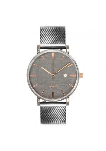 Stylové pánské hodinky stříbrno-šedé barvy s kovovým řemínkem