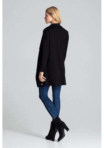 Černý teplý kardigán s kapsami pro dámy