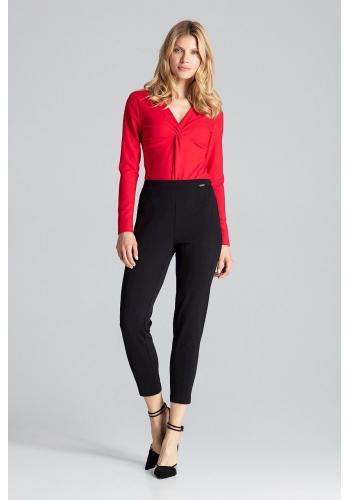 Smyslné dámské body červené barvy s dlouhým rukávem