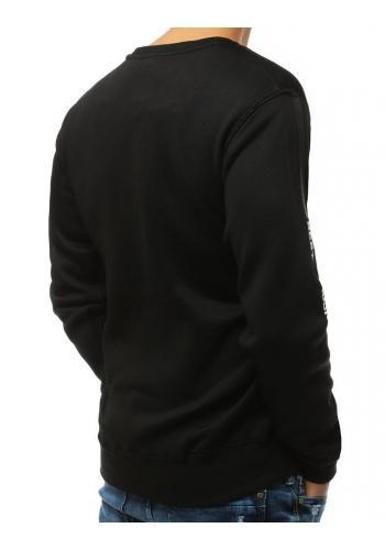 Stylová pánská mikina černé barvy s potiskem