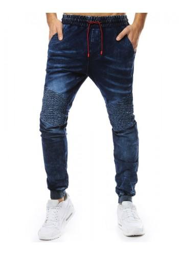 Pánské stylové Joggery s riflovým vzhledem v tmavě modré barvě