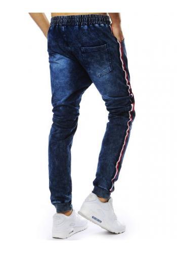 Pánské sportovní Joggery s riflovým vzhledem v tmavě modré barvě