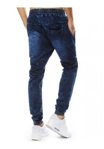 Tmavě modré stylové Joggery s riflovým vzhledem pro pány