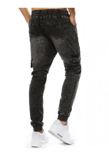 Pánské sportovní Joggery s riflovým vzhledem v černé barvě
