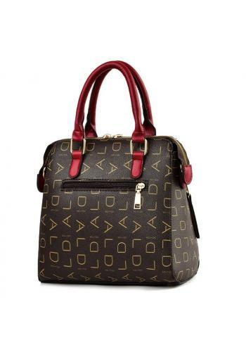 Černá vzorovaná kabelka s přívěskem pro dámy