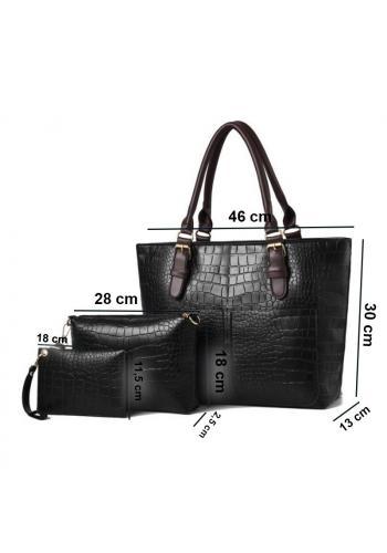 Módní dámská kabelka 3 v 1 černé barvy