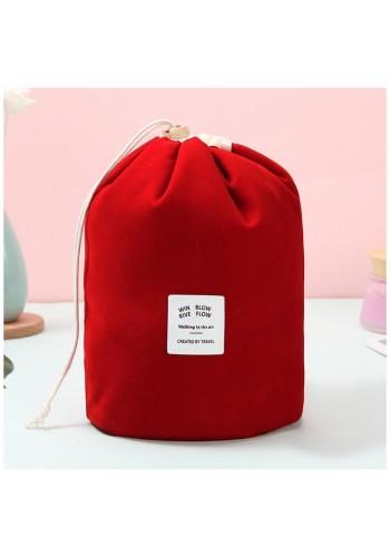Kosmetická kapsa červené barvy