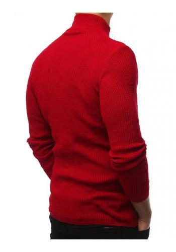 Teplý pánský rolák červené barvy