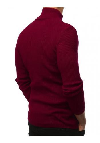 Pánský teplý rolák v bordové barvě