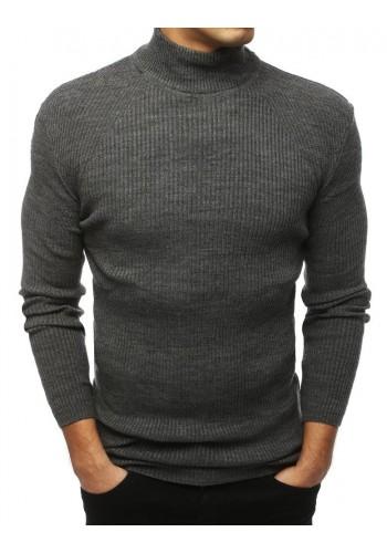 Teplý pánský rolák tmavě šedé barvy