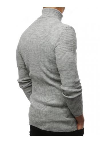 Světle šedý módní rolák pro pány