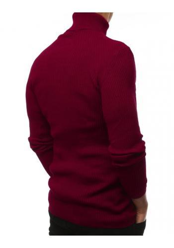 Pánský módní rolák v bordové barvě