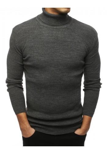 Módní pánský rolák tmavě šedé barvy