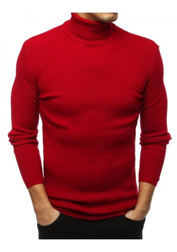 Červený módní rolák pro pány