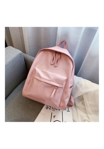 Růžový klasický batoh z ekokůže pro dámy
