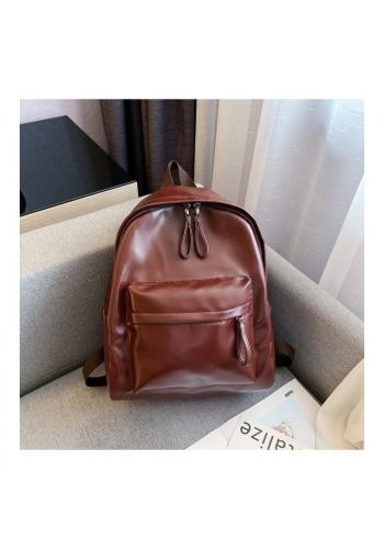 Dámský klasický batoh z ekokůže v hnědé barvě