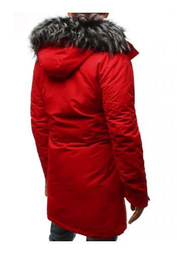 Červená zimní Parka s odepínací kapucí pro pány