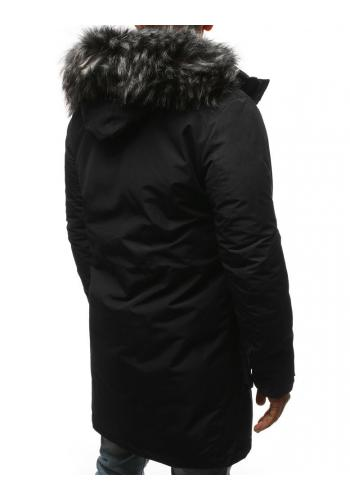 Zimní pánská Parka černé barvy s odepínací kapucí