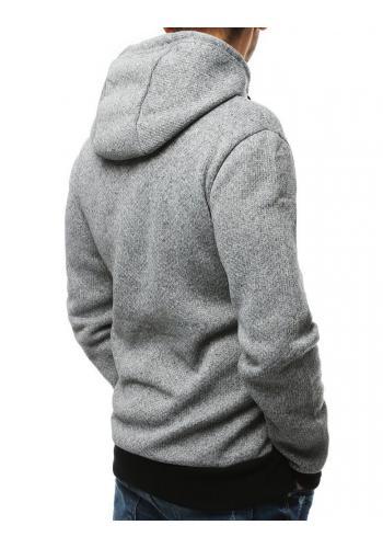 Sportovní pánská mikina šedé barvy s potiskem