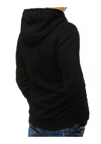 Pánská sportovní mikina s potiskem v černé barvě