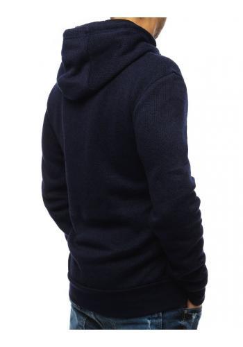 Tmavě modrá sportovní mikina s potiskem pro pány