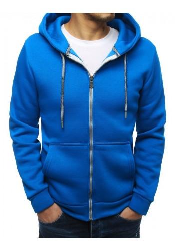 Modrá klasická mikina s kapucí pro pány