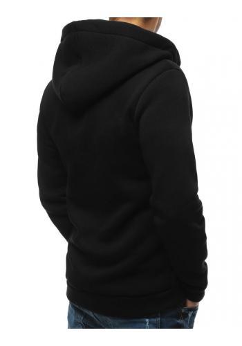 Černá klasická mikina s kapucí pro pány