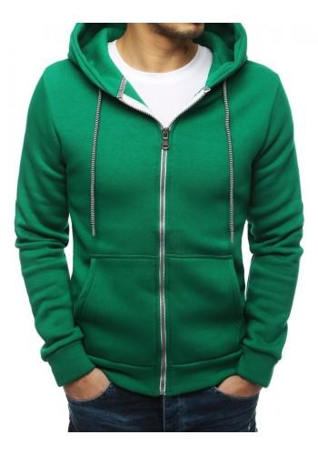 Zelená klasická mikina s kapucí pro pány