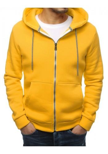 Žlutá klasická mikina s kapucí pro pány
