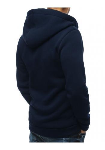 Klasická pánská mikina tmavě modré barvy s kapucí