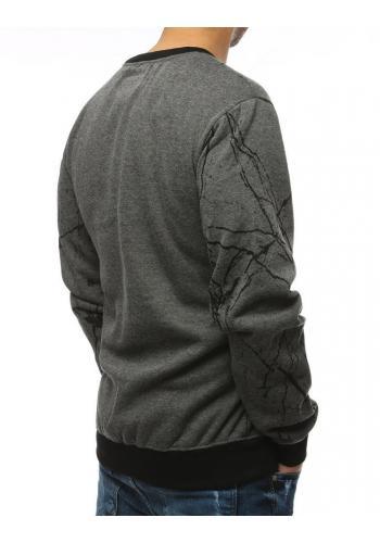 Sportovní dámská mikina tmavě šedé barvy s potiskem