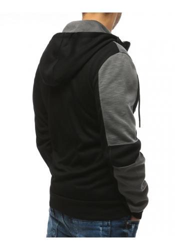 Černá sportovní mikina s kapucí pro pány
