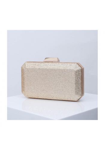 Zlatá brokátová kabelka pro dámy