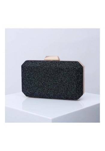 Brokátová dámská kabelka černé barvy