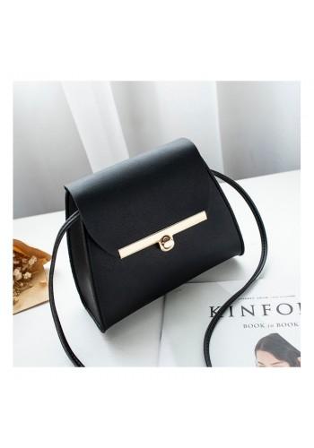 Černá mini kabelka z ekokůže pro dámy