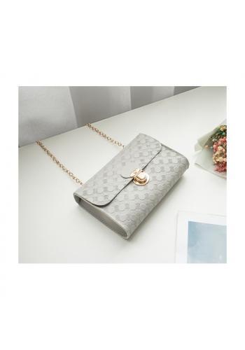 Dámská elegantní mini kabelka se vzorem v šedé barvě