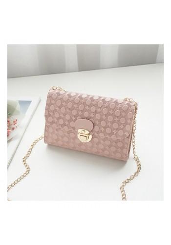 Elegantní dámská mini kabelka růžové barvy se vzorem