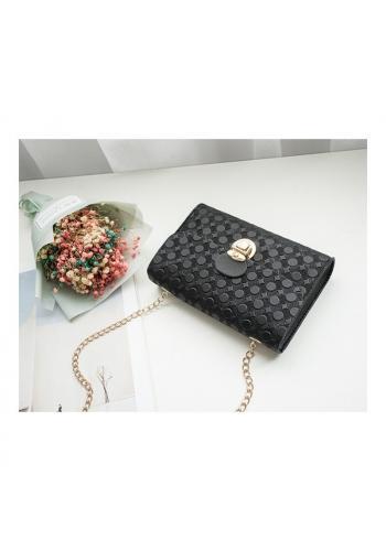 Černá elegantní mini kabelka se vzorem pro dámy
