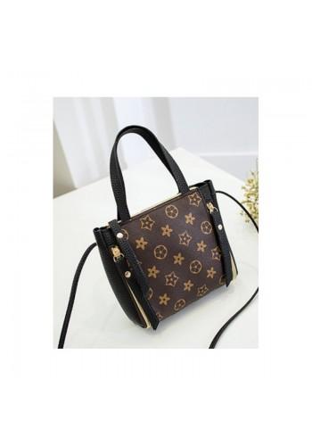Černá módní kabelka se vzorem pro dámy