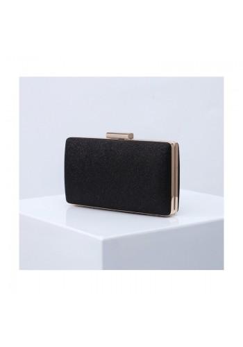 Dámská třpytivá kabelka v černé barvě