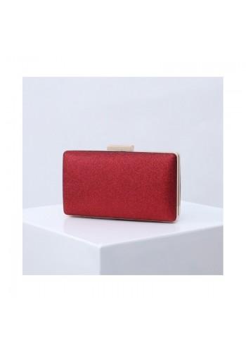 Červená třpytivá kabelka pro dámy